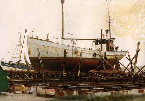 Andrea Jensen in Esjberg in the 1980's