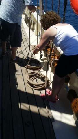 Keeping the deck tidy
