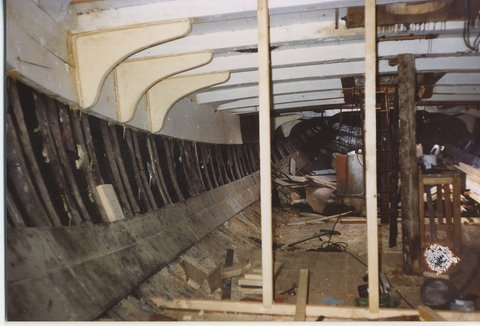 Andrea stripped out for new fit out 1990's