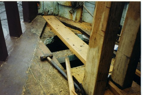 New planks in the foredeck 1990's