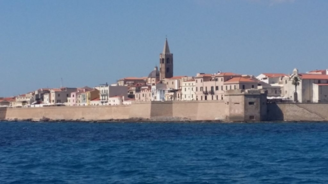 Close up of Alghero old town