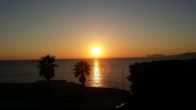 Beautiful views of the sunset from Alghero