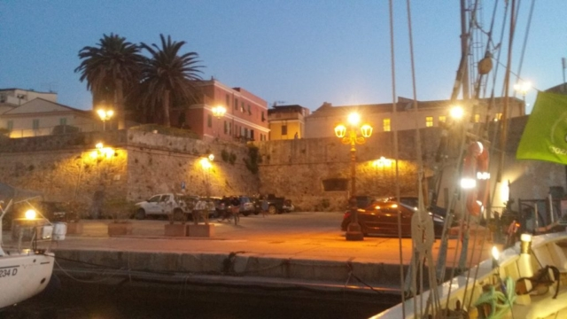 Old Catalan town wall of Alghero